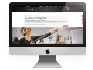 Site web coiffure Hairboutik