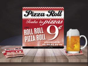 Sous bocks personnalisés Pizza Roll