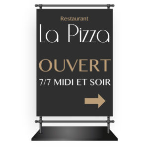 Stop trottoir restaurant La Pizza