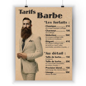 Tarif barbe coiffure Hairboutik