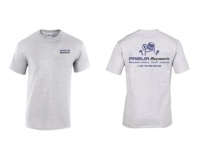 Tshirt entreprise Maçonnerie Prieur