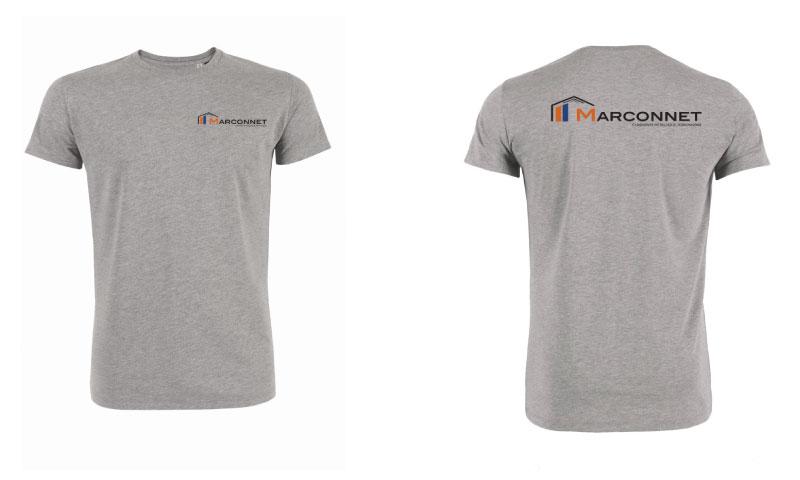 Tshirt entreprise BTP Marconnet