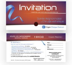 Carton d'invitation soirée esthétique Capio Fontvert