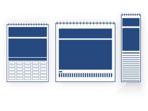 Calendrier illustré muraux 6, 7, 12 ou 13 feuillets
