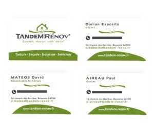 Carte de visite - Tandem Rénov'
