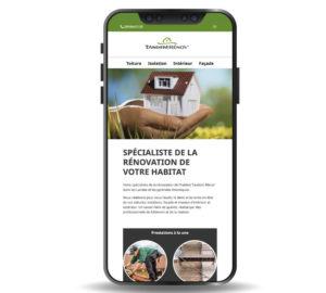 Site web mobile - Tandem Rénov'