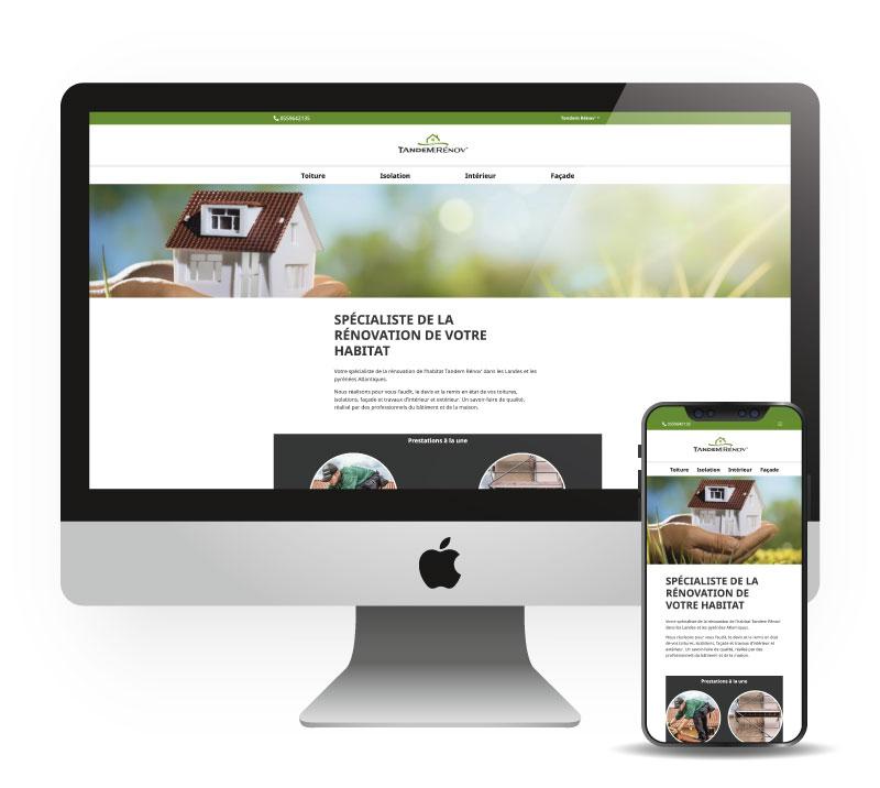 Site internet responsive mobile - Tandem Rénov'